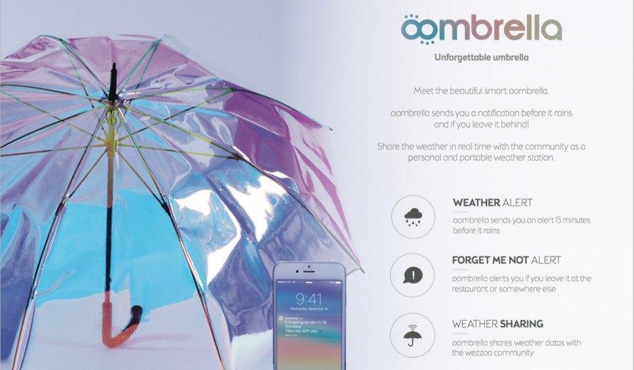 Oombrella – Le parapluie connecté